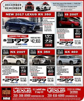 North Park Lexus at Dominion -New Specials