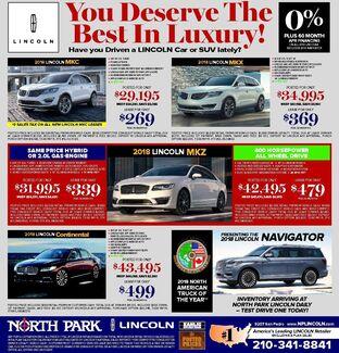 North Park Lincoln - New Specials