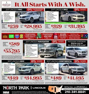 North Park Lincoln - New Specials
