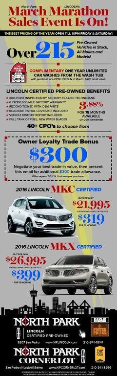 North Park Lincoln and Corner Lot- Pre-Owned Specials
