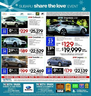 North Park Subaru San Antonio & Dominion - New Specials