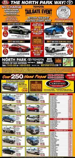 North Park Toyota - New & Pre-owned  Specials