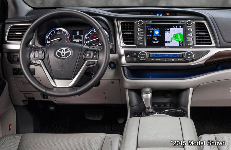 Toyota Highlander Interior Dashboard with Toyota Entune Navigation Gale Toyota