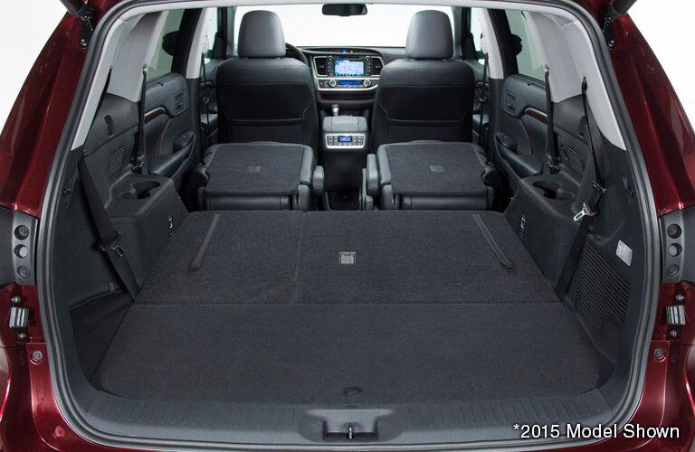 2016 Toyota Highlander Cargo Space