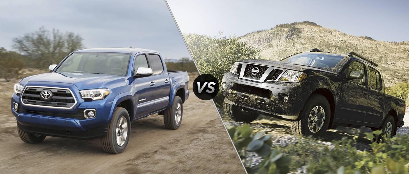 2016 Toyota Tacoma vs 2016 Nissan Frontier