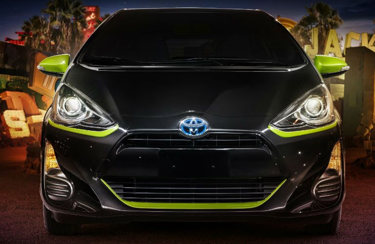 2016 Toyota Prius c Persona Series Special Edition Black Sand Pearl with Electric Lime