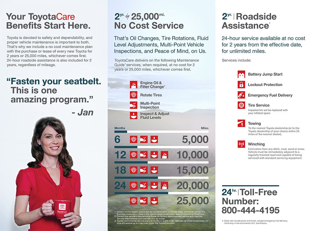 page one toyotacare brochure