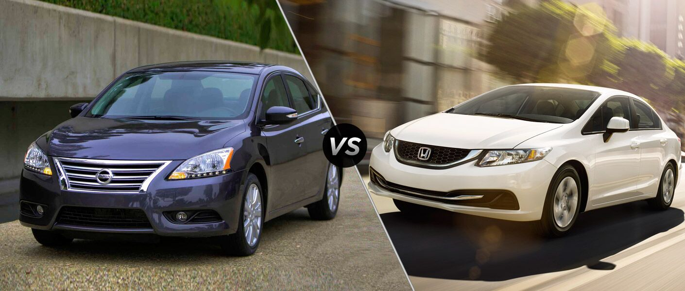 2015 nissan sentra vs 2015 honda civic. Black Bedroom Furniture Sets. Home Design Ideas