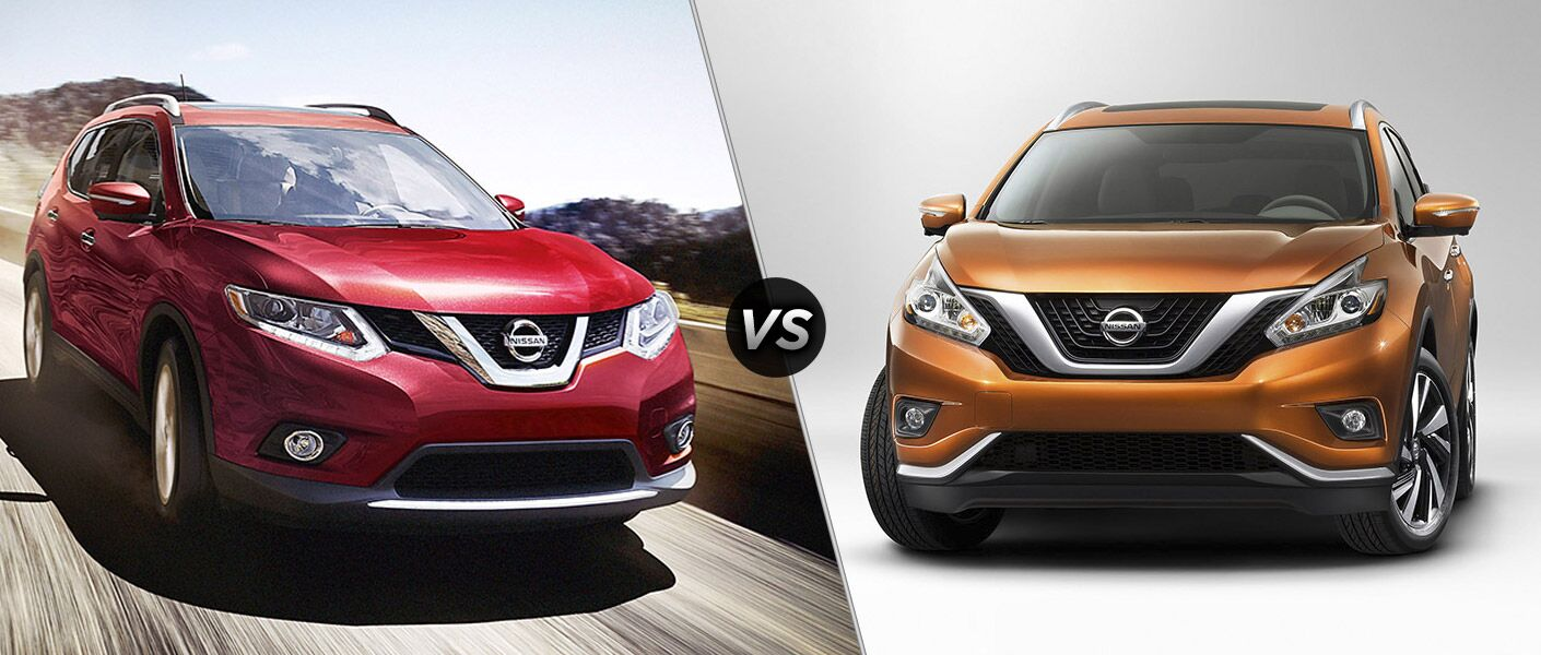 2016 Nissan Rogue vs. 2016 Nissan Murano crossovers towing cargo horsepower