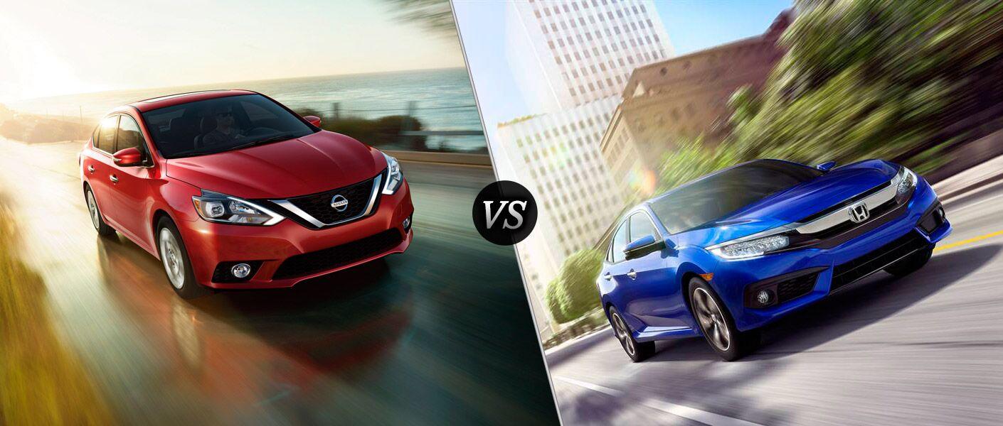 2016 Nissan Sentra vs. 2016 Honda Civic compact Vacaville Nissan Vacaville San Francisco CA