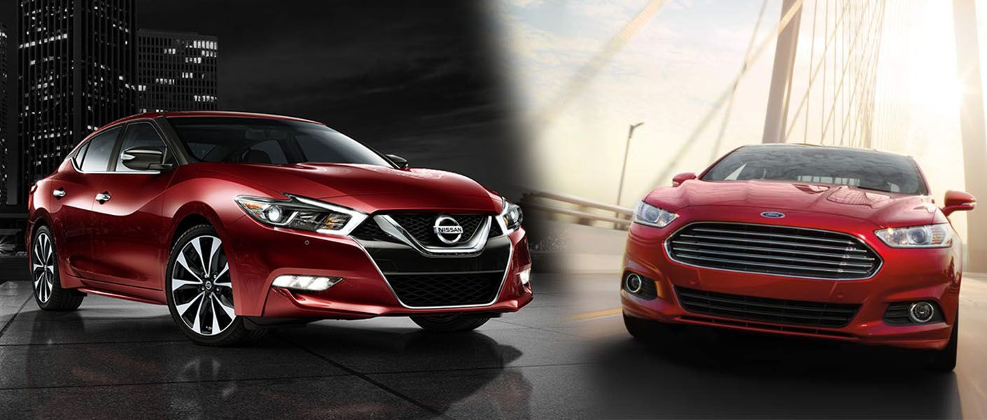 2016 nissan maxima comparison ford fusion sedan midsize performance