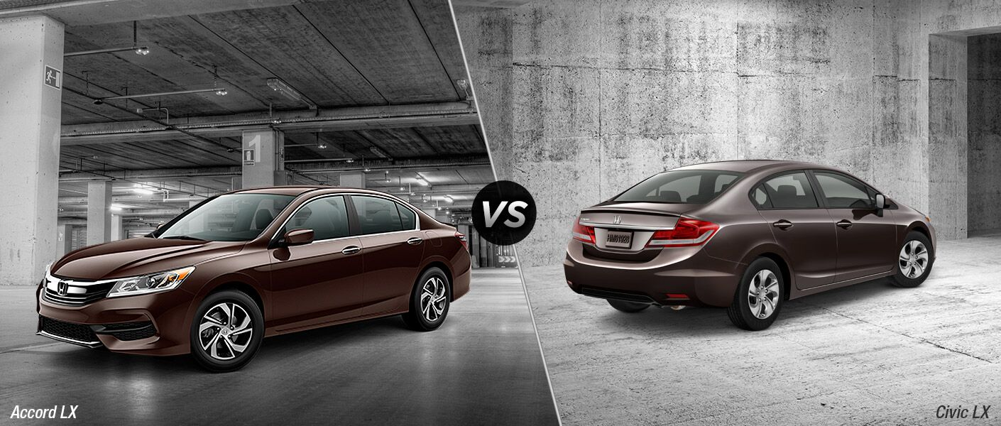 2016 Honda Accord vs 2016 Honda Civic