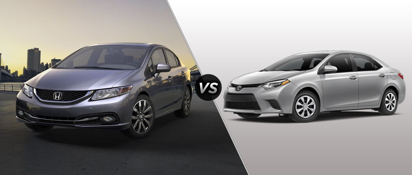 2015 Honda Civic Vs 2015 Toyota Corolla