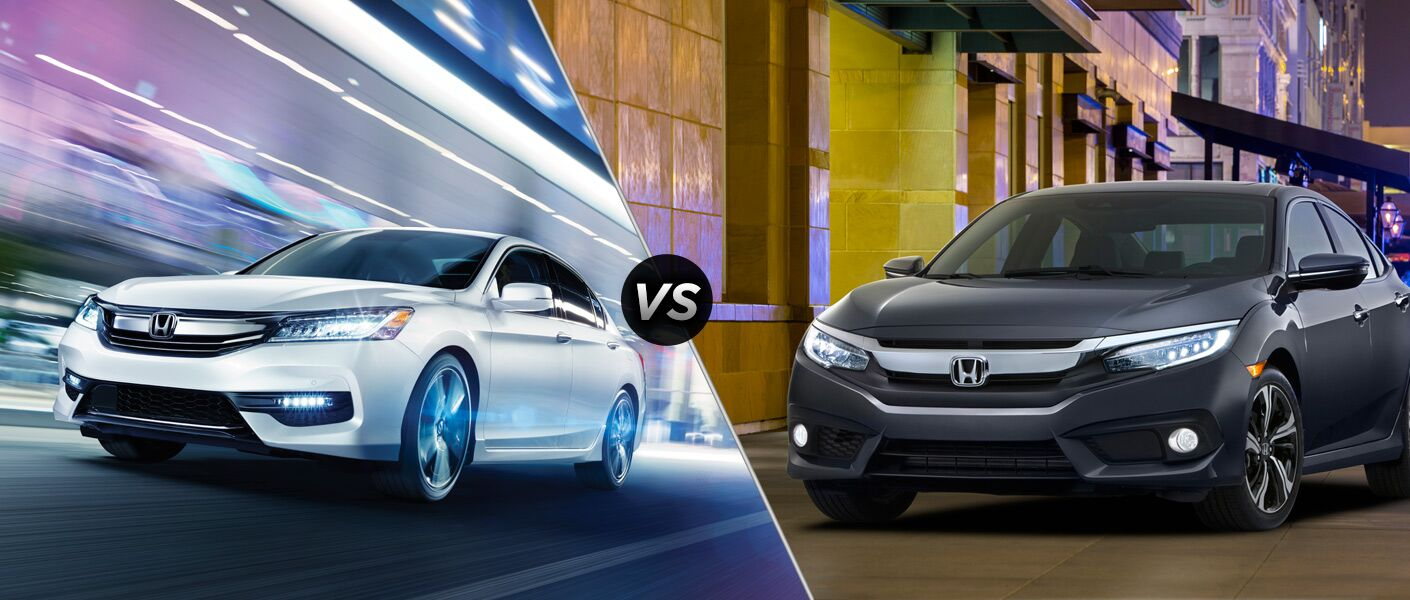 2016 Honda Accord vs 2016 Honda Civic