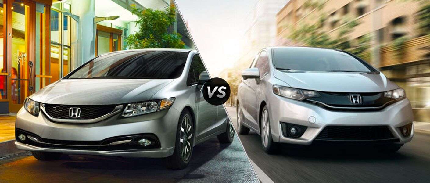 2014 Honda Civic vs. 2015 Honda Fit