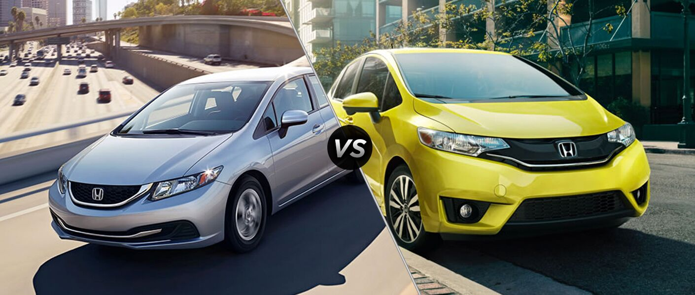 2015 honda civic vs 2015 honda fit for Honda fit vs civic