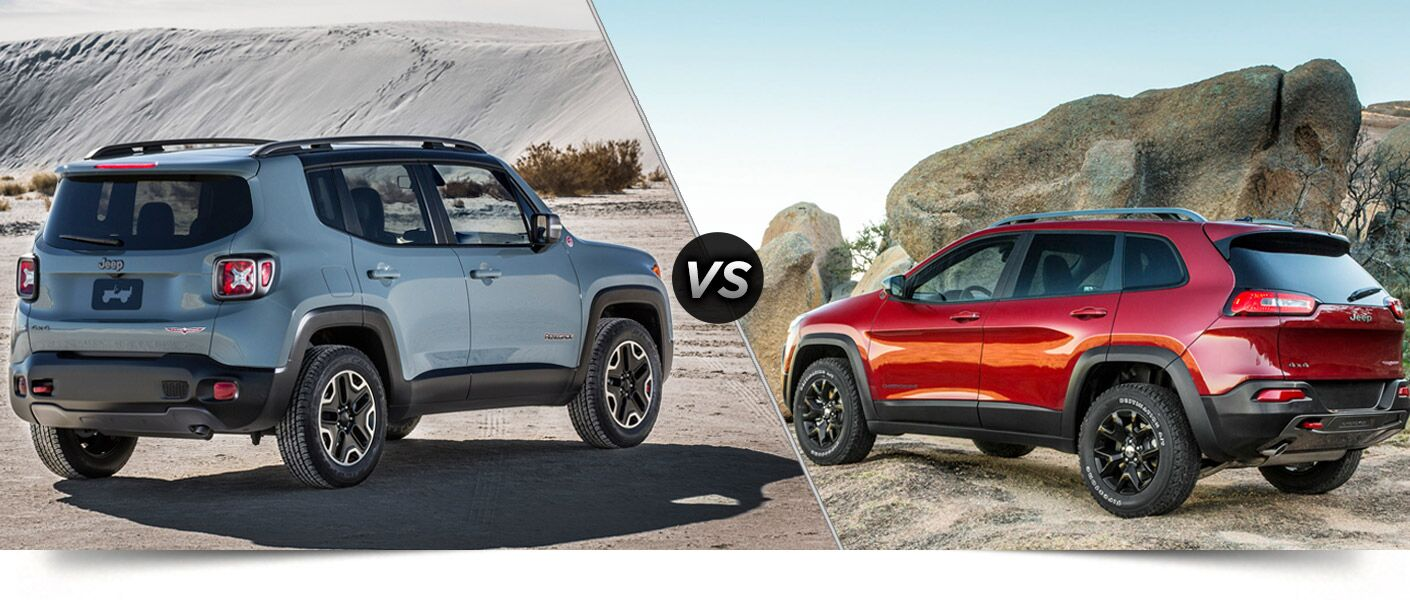 2015 Jeep Renegade vs 2015 Jeep Cherokee