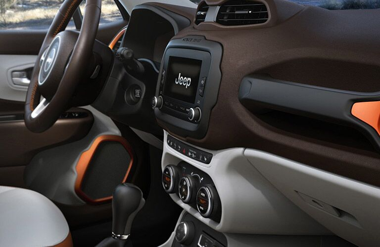Orange interior 2015 Jeep Renegade