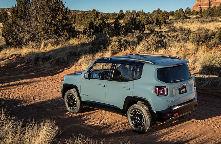 Blue 2015 Jeep Renegade Rear