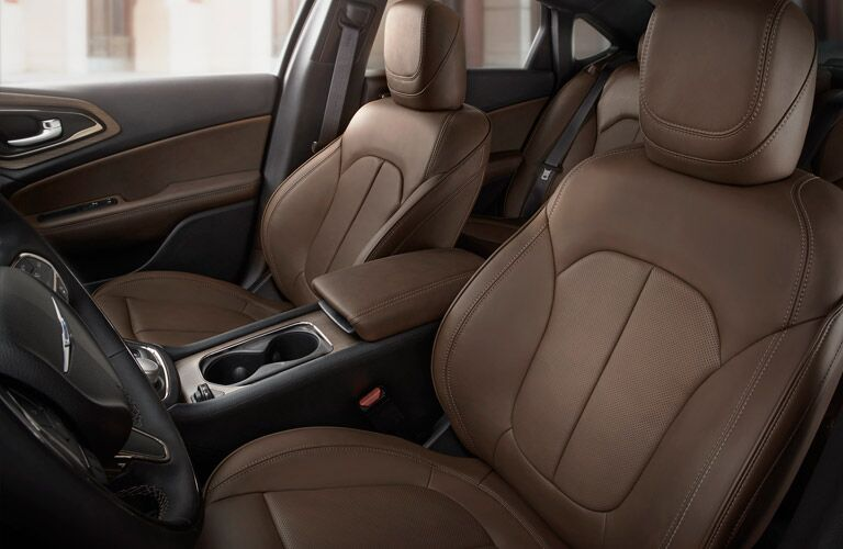 2016 Chrysler 200 Front Row Brown Leather