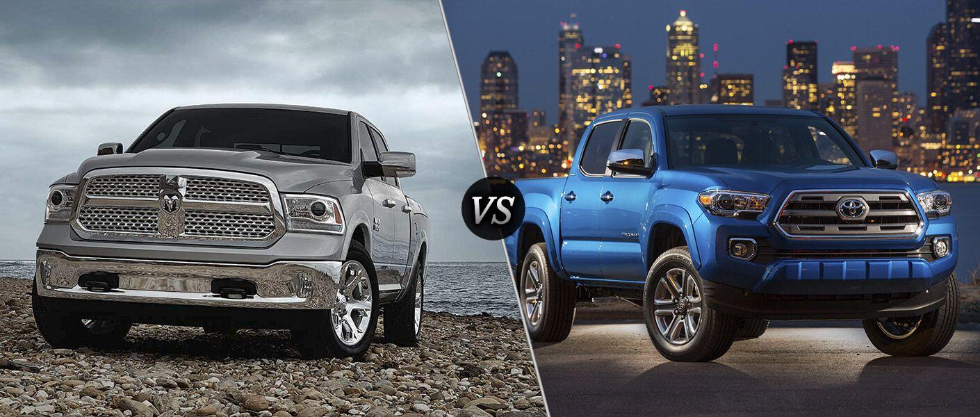 2016 RAM 1500 vs 2016 Toyota Tacoma