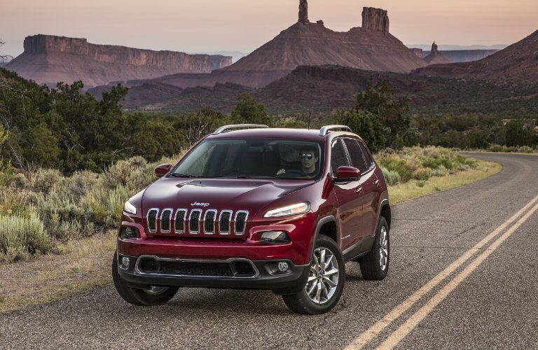 2016 Jeep Cherokee Front Grille Red