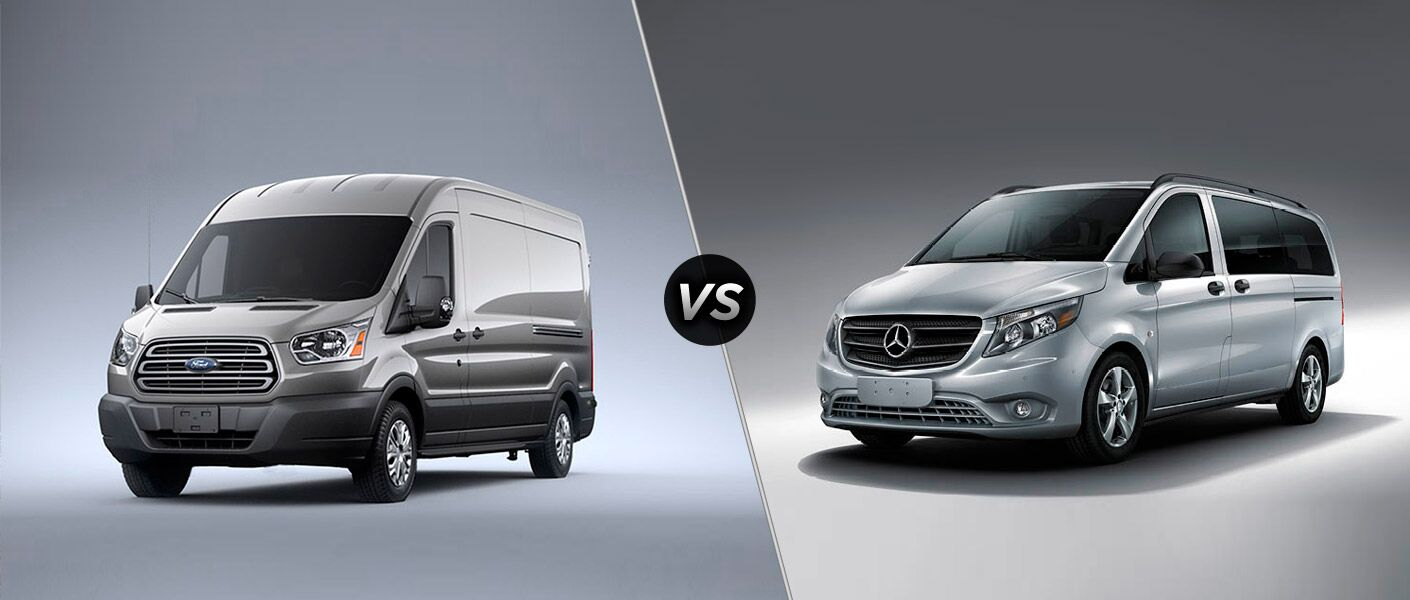 Compare the 2015 Ford Transit vs 2016 Mercedes Metris.