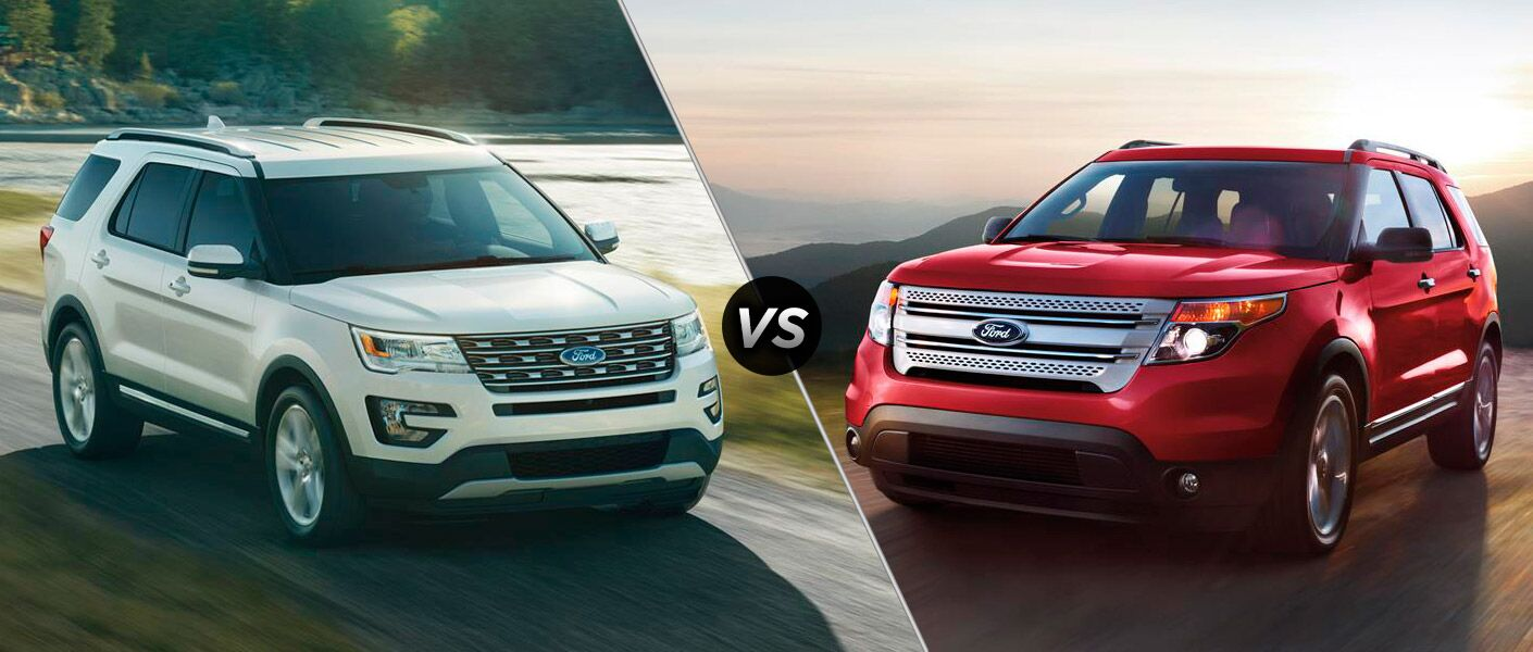 2016 ford explorer vs 2015 ford explorer new design hood grille updated features platinum trim level