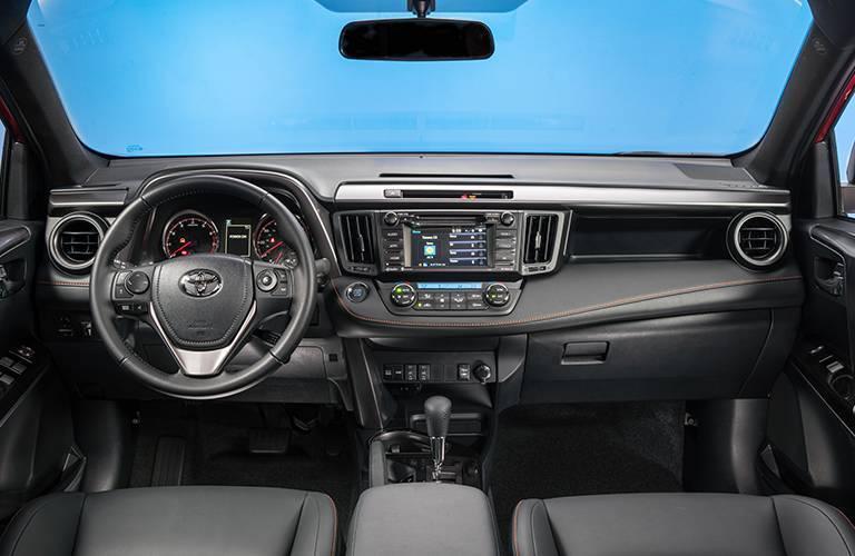 2016 Toyota RAV4 Front Interior Dashboard and Toyota Entune