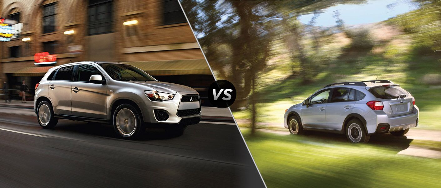 2014 mitsubishi outlander sport vs subaru xv crosstrek. Black Bedroom Furniture Sets. Home Design Ideas