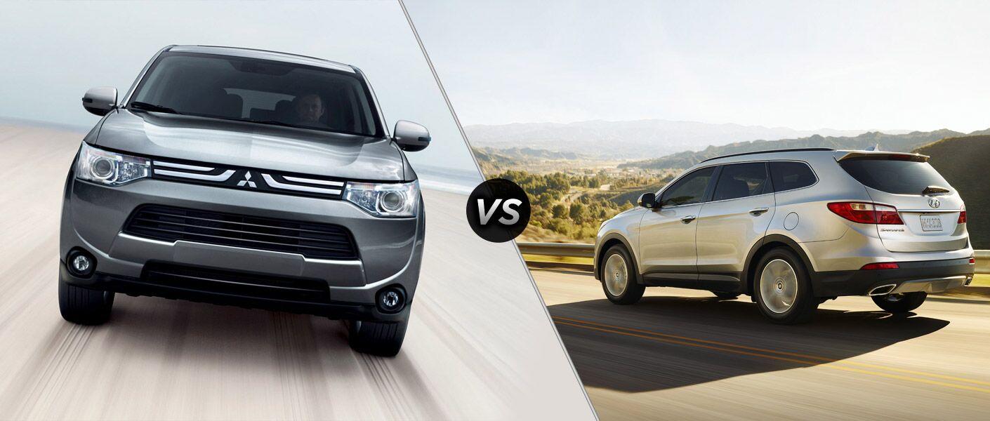 2014 Mitsubishi Outlander vs. 2014 Hyundai Santa Fe