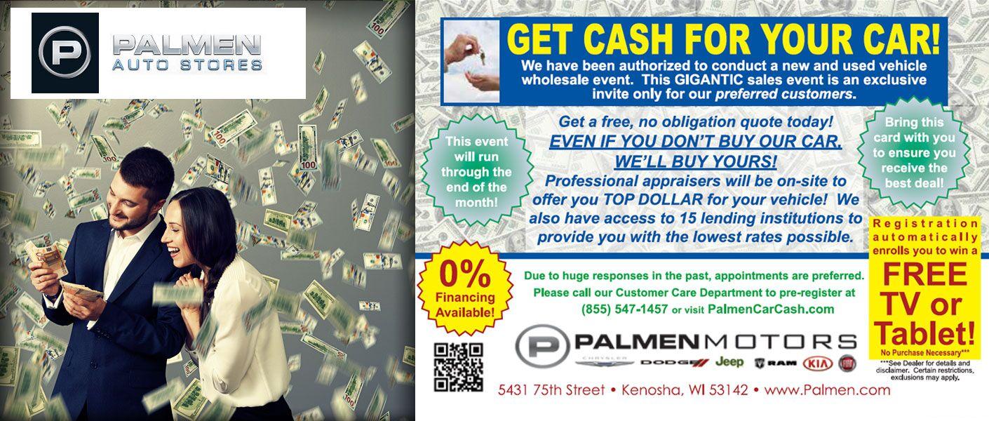 Cash for your car Kenosha Racine WI
