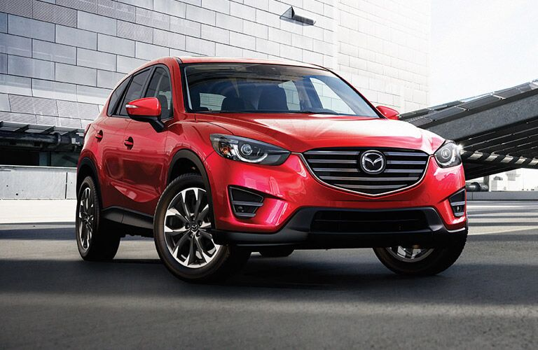 Mazda CX-5 small SUV crossover in red