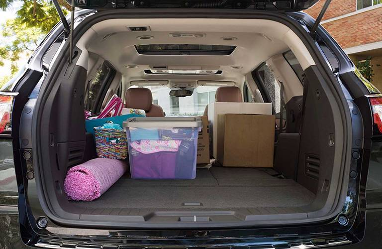 Generous storage space 2016 Chevy Traverse Alexandria Motors