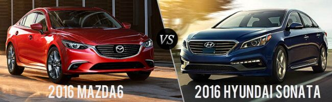 2016 Mazda6 vs 2016 Hyundai Sonata bloomington in