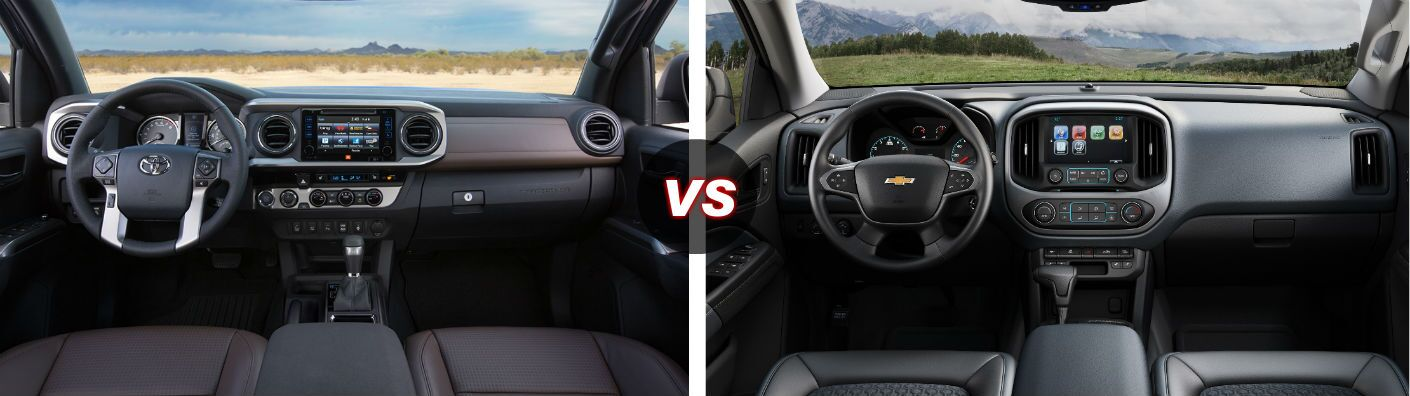 2016 Toyota Tacoma vs Chevy Colorado Interior