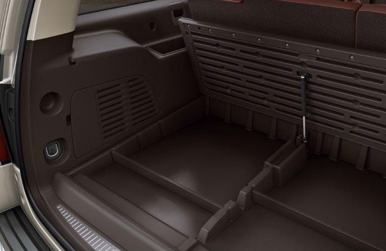 2016 Chevy Suburban under seat storage