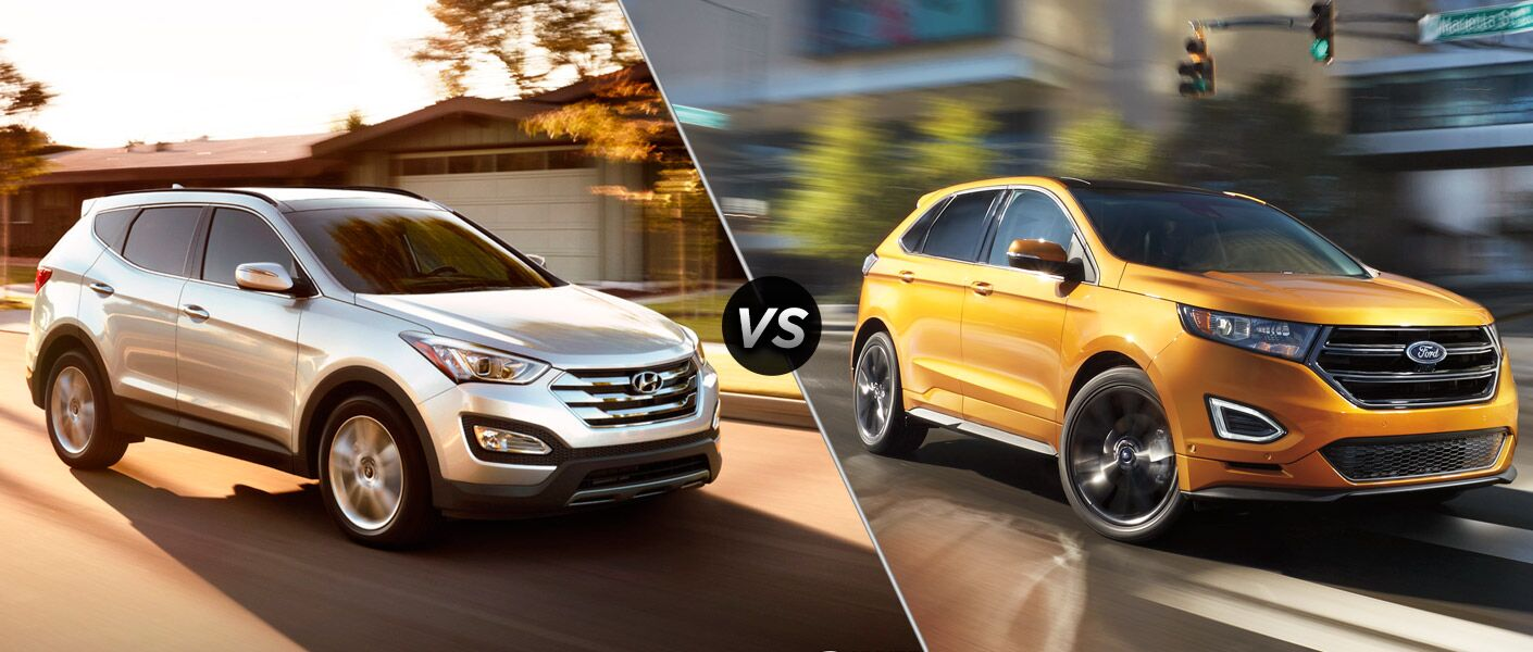 2016 Hyundai Santa Fe Sport vs 2016 Ford Edge