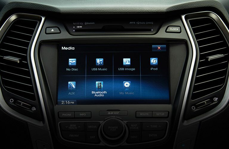 how do I set up bluetooth in my 2016 hyundai santa fe sport