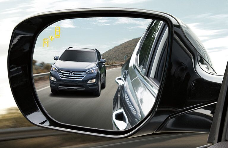 2016 Hyundai Santa Fe Sport with blind spot alert