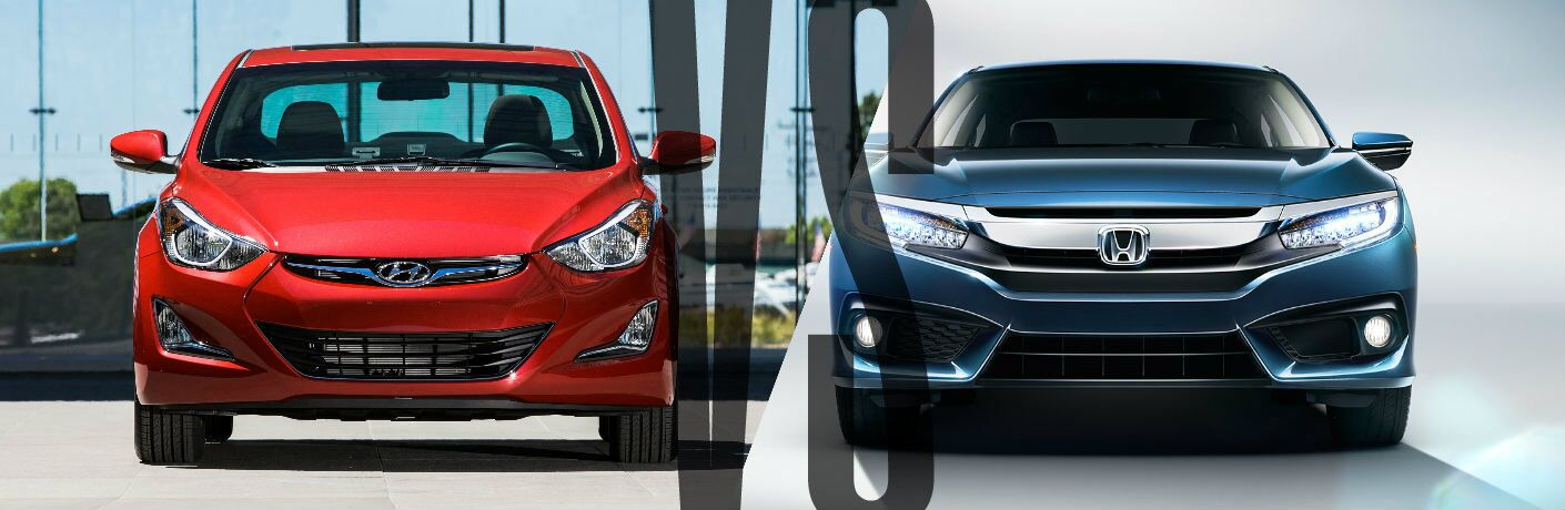 2016 Hyundai Elantra vs 2016 Honda Civic