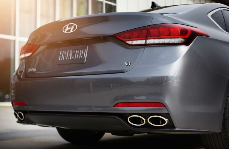 2016 hyundai genesis chrome-tipped exhaust