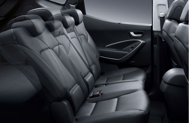 2016 santa fe reclining second-row seating