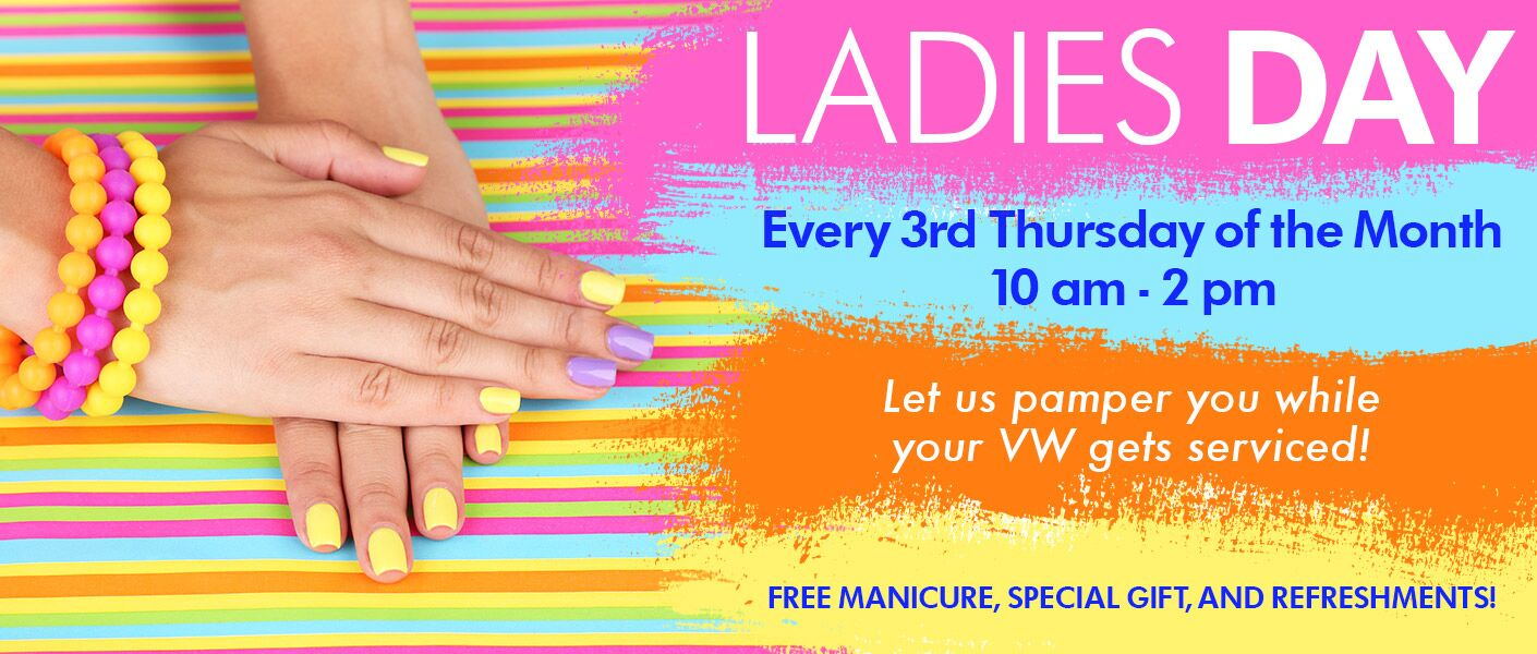 Ladies' Day at Pacific Volkswagen: Service and Pampering Every Third Thursday
