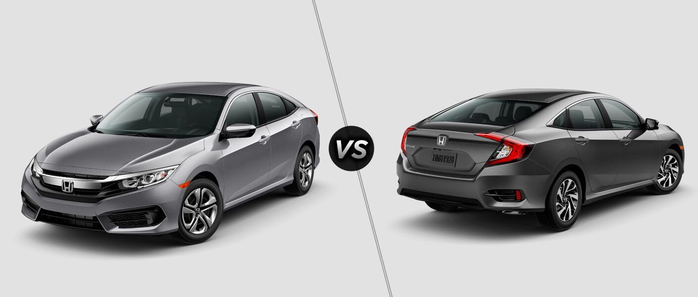 2016 honda civic lx vs ex