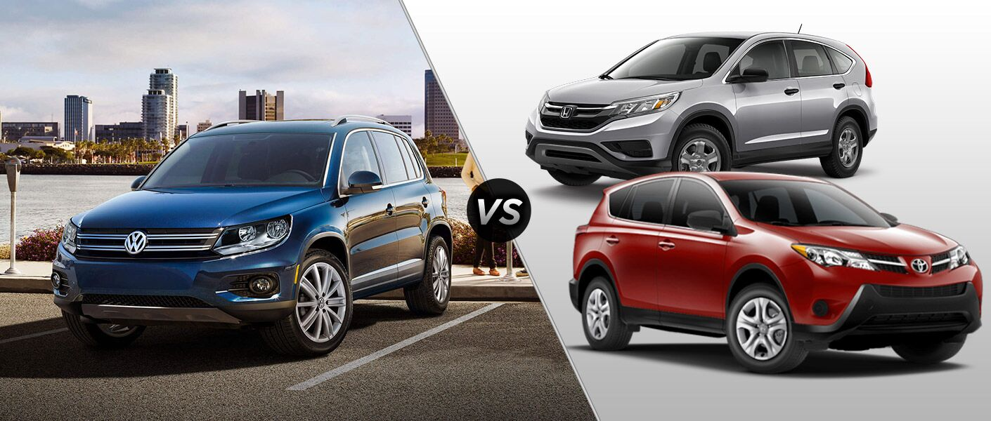 Volkswagen tiguan vs honda cr v vs toyota rav4 for Honda crv vs toyota highlander