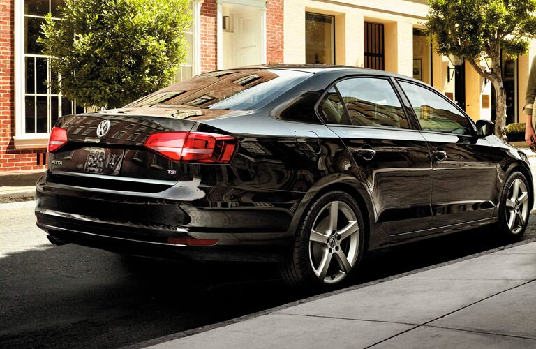 2016 Volkswagen Jetta Santa Monica CA exterior rear design in black