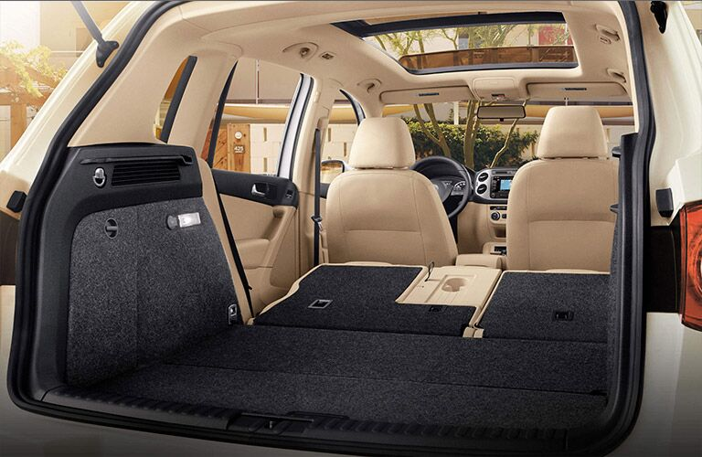 2016 VW Tiguan with folded rear seats