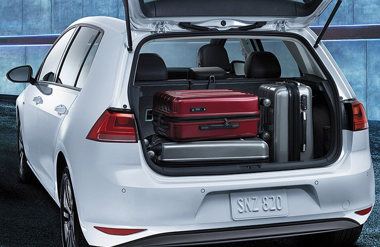 2016 vw e-golf cargo capacity behind rear hatch