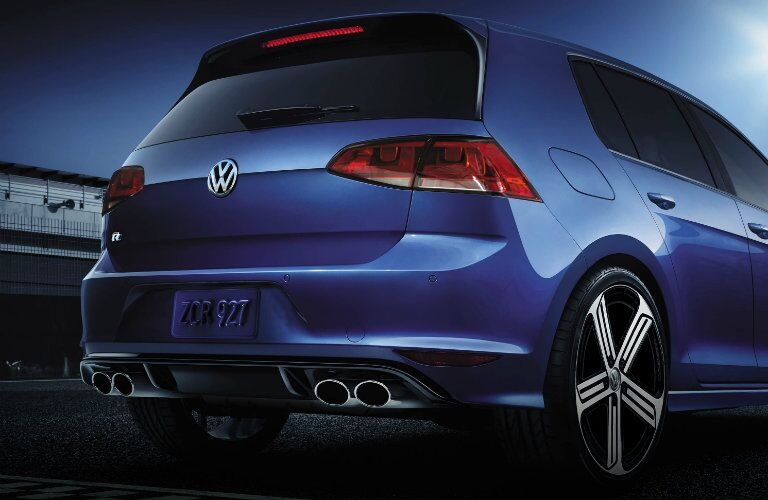 2016 vw golf r with chrome exhaust tips